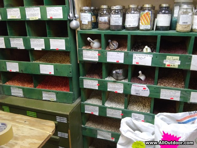 Seeds for sale at Circle Three Feed in Jasper, Texas.