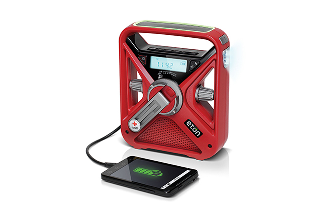 This Hand-Crank Emergency Weather Radio and Smartphone Charger is Now On Sale