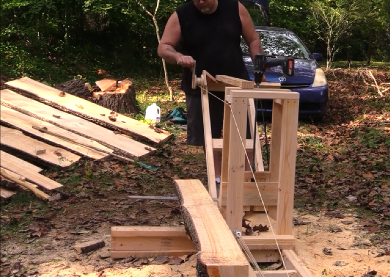 Watch: DIY Chainsaw Mill for Less Than $50
