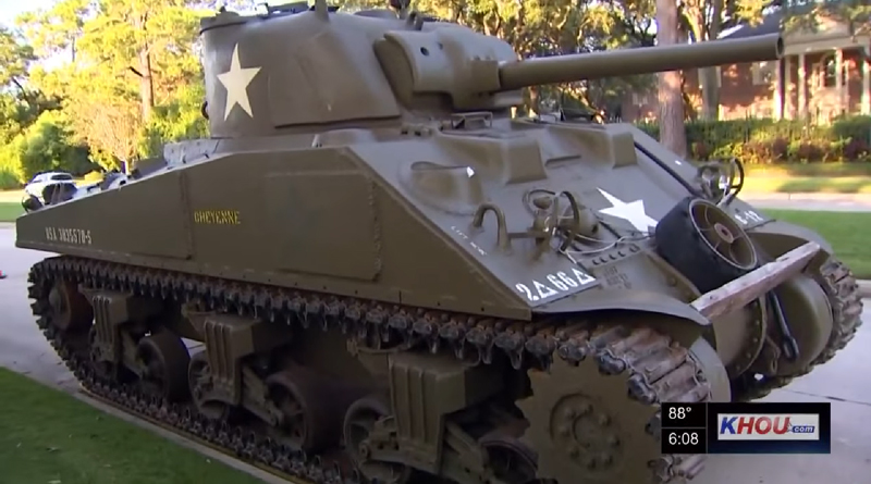 HOA Objects to Sherman Tank Parked on the Street