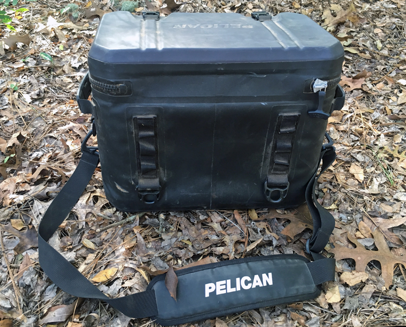 Pelican 24 can soft side cooler rear view
