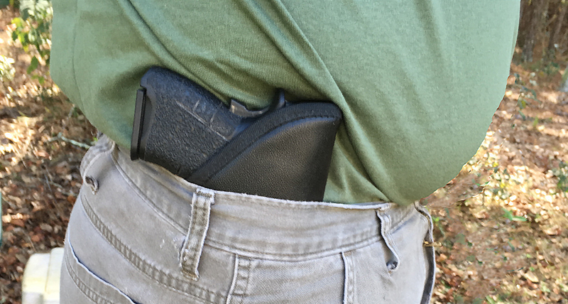 Comfort Cling holster in use.