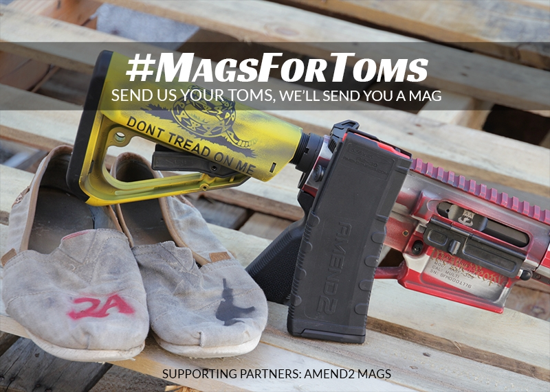 Swap Your TOMS Shoes for a Free Magazine from Adams Arms