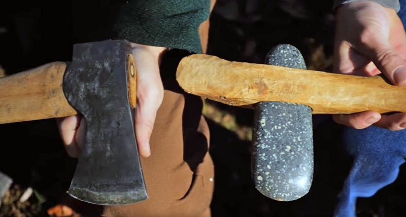 Watch: Steel Axe vs. Stone Axe