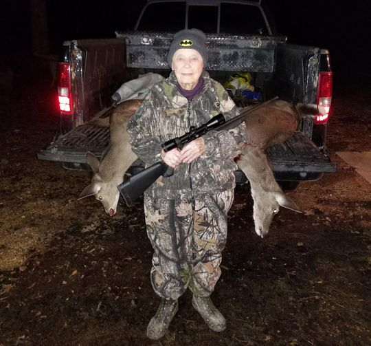101-Year-Old Bertha Vickers Bags 2 Deer with 1 Shot