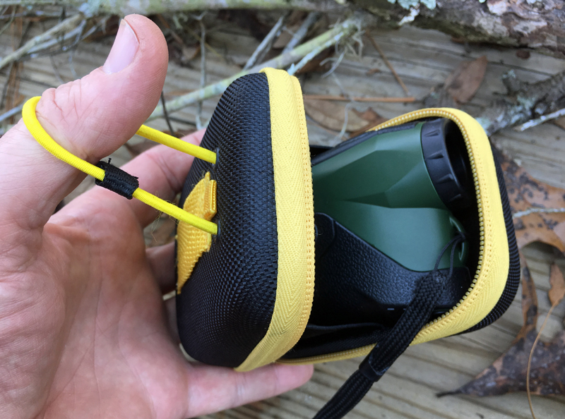 TecTecTec ProWild 2 Laser Rangefinder in its case.
