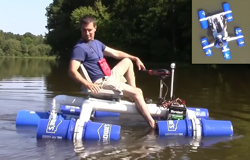 Build a Simple Boat with PVC and Plastic Buckets