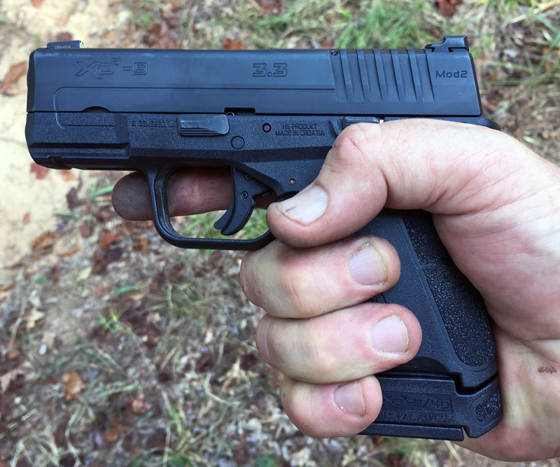 Springfield Armory XD-S Mod.2® 9mm with 8-round extended magazine.