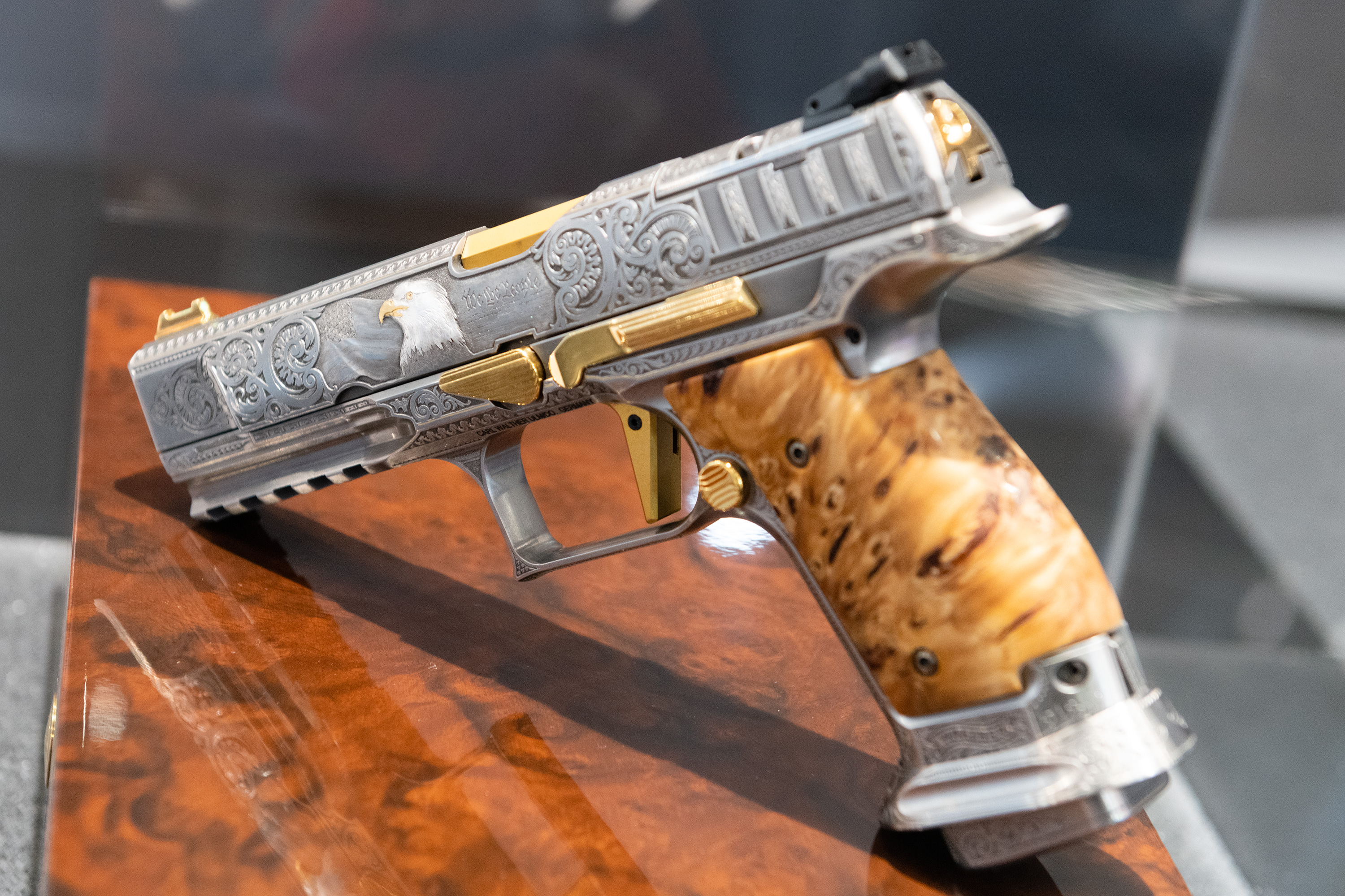 "(IWA 2019) Walther Q5 Match Steel Frame Custom ""We The People"" Live Photos"