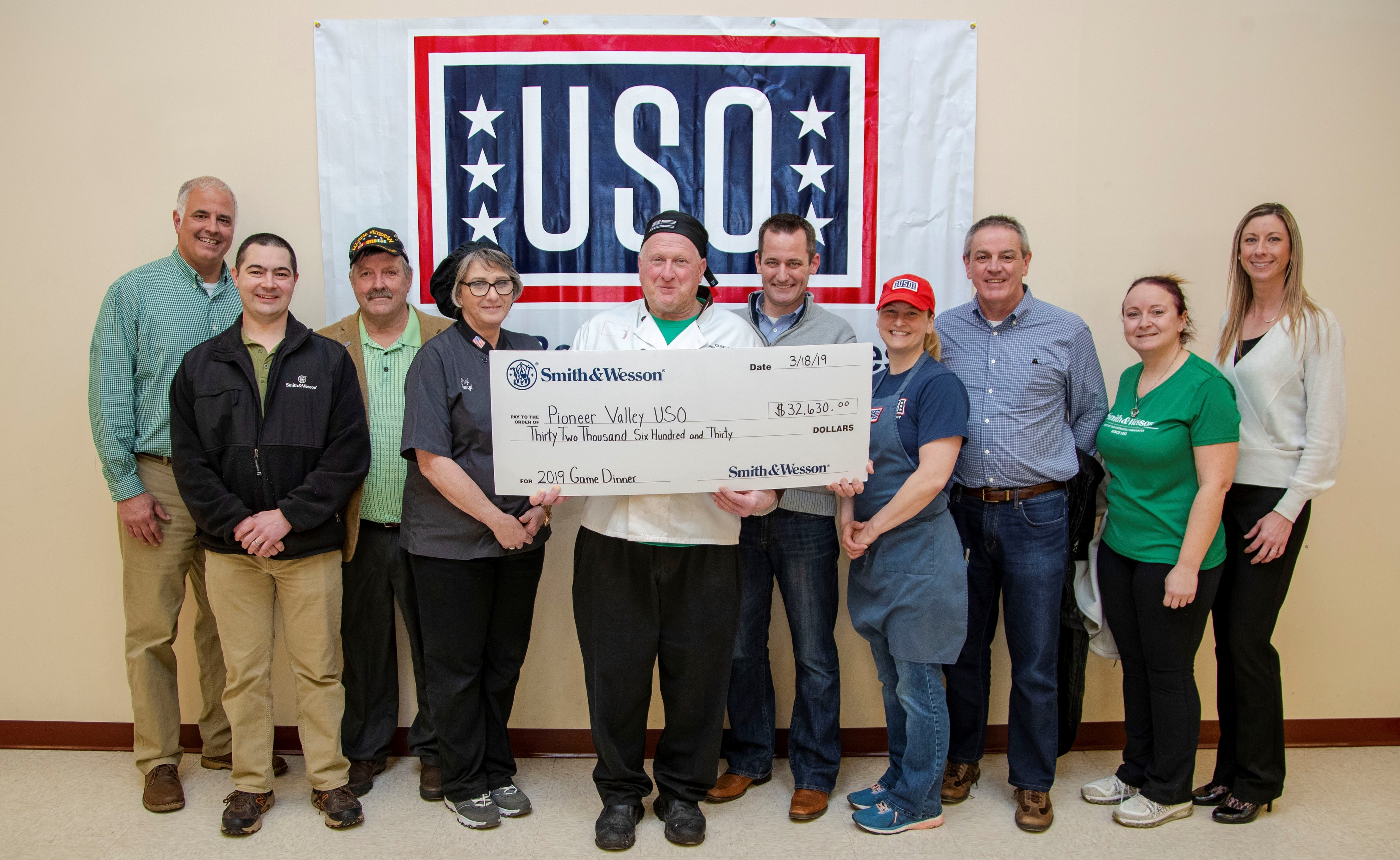 Smith & Wesson Donates $32,000 to Pioneer Valley USO