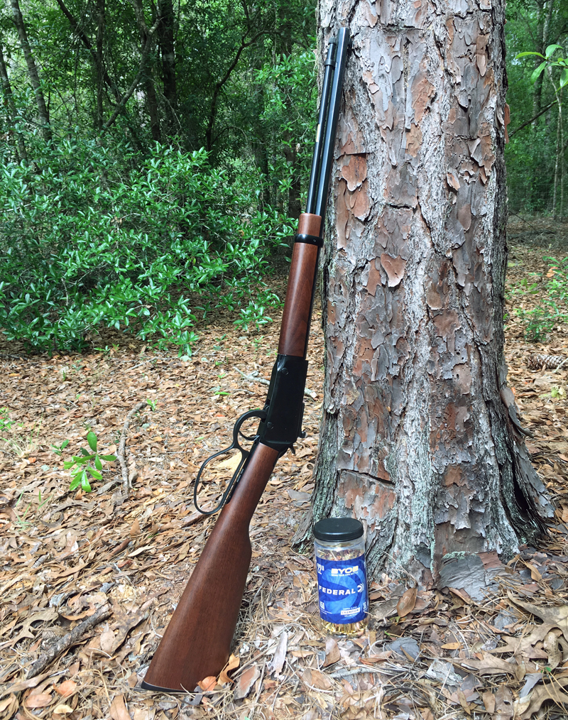 Henry Small Game Rifle and Federal BYOB 22 LR ammo.