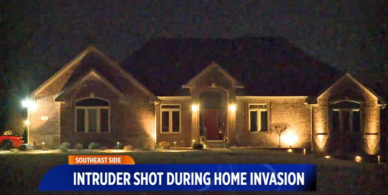 Home Invader Impersonating a Cop Gets Shot in the Butt