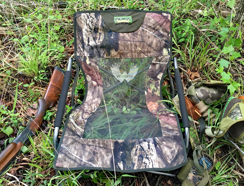 This was the setup at the spot where I clobbered a gobbler.