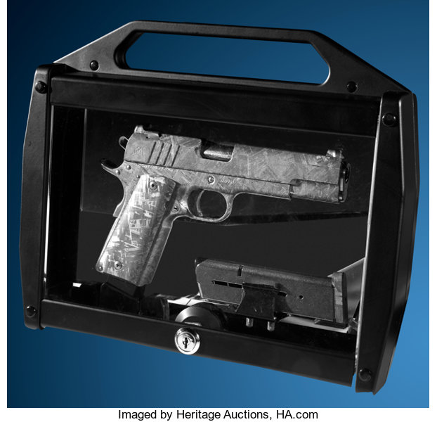 Custom Model 1911 made from a meteorite. Image © Heritage Auctions.