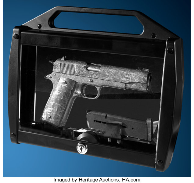 Government Model 1911 made from a meteorite. Image © Heritage Auctions.