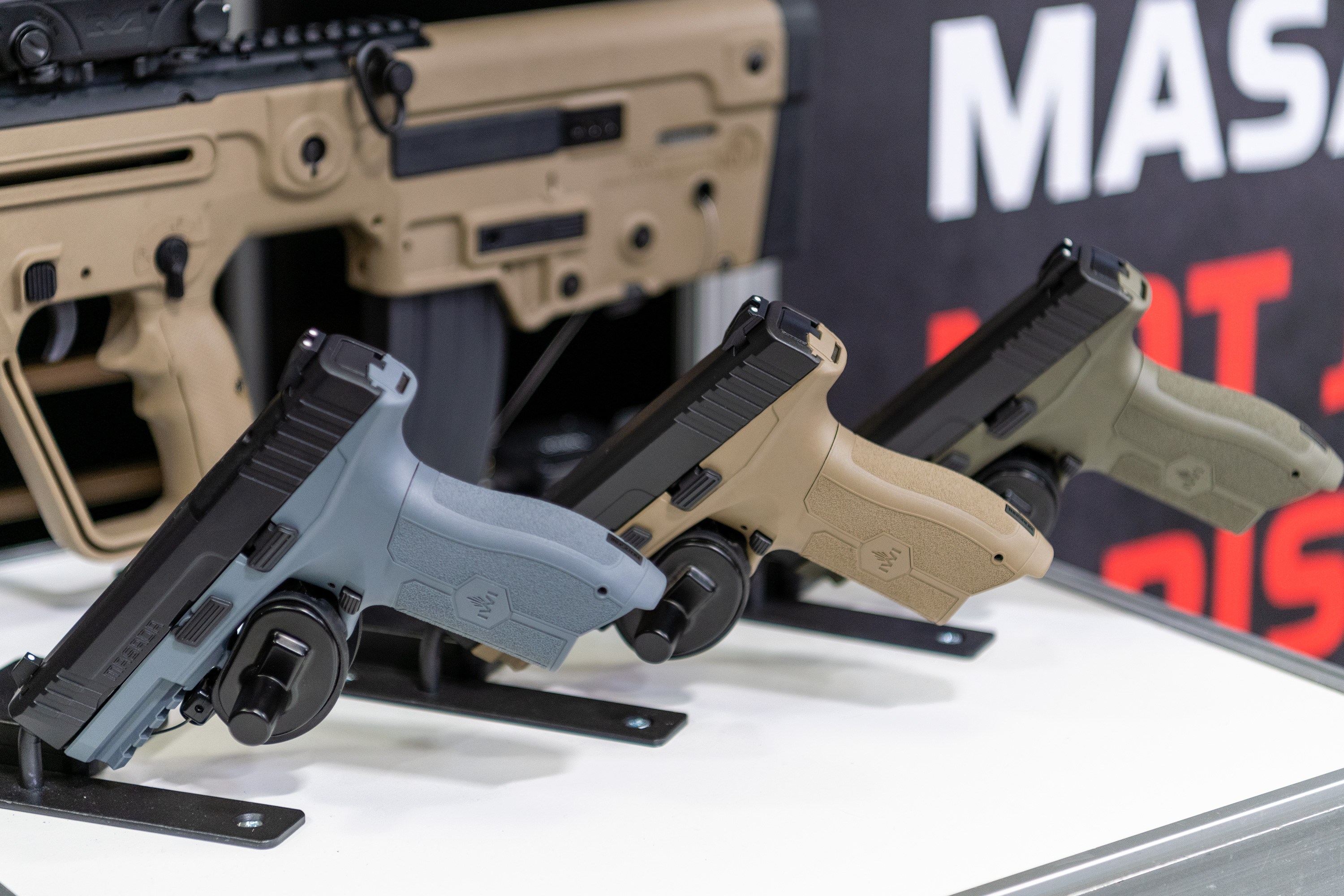 (TACCOM 2019) IWI Masada 9mm Grey, Green & Desert