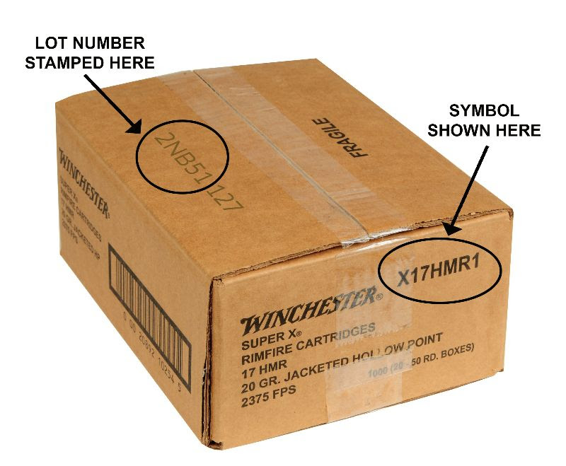 Check your Winchester 17 HMR ammo to see if it's been recalled (lot number ending with NB51 or NB61). (Image: Winchester)