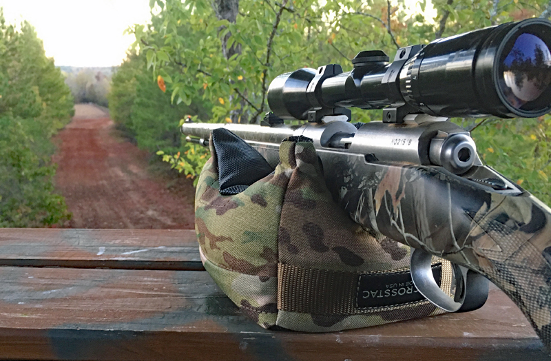 Modern muzzleloading: Using a Crosstac bag with my Savage inline. (Photo © Russ Chastain)