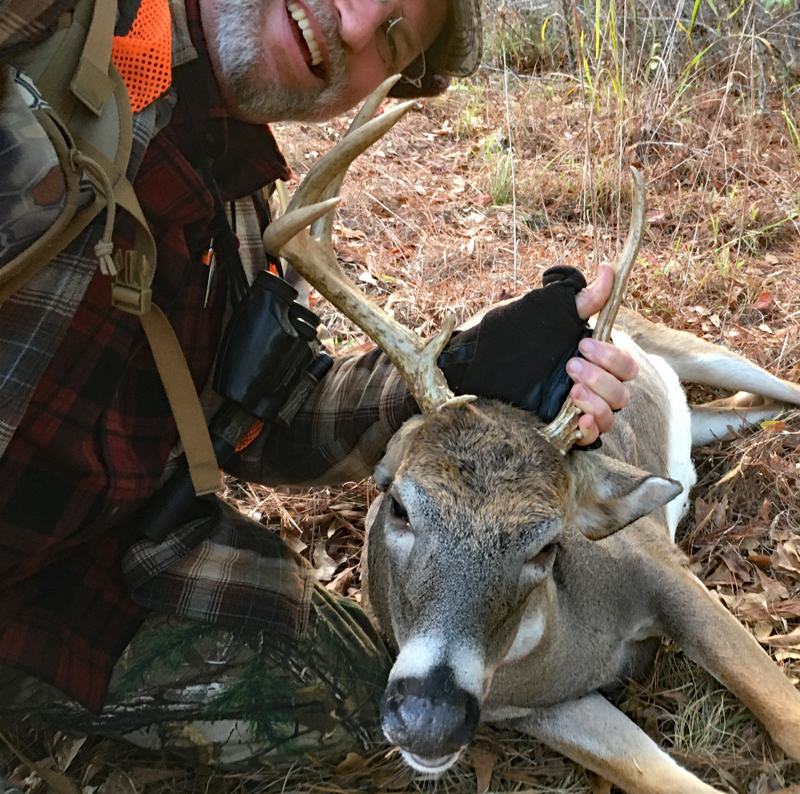 The best buck I've ever taken with a muzzleloader... and one of the most unique. (Photo © Russ Chastain)