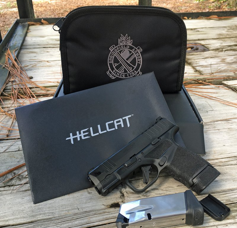 Springfield Armory Hellcat pistol with included accessories. (Photo © Russ Chastain)