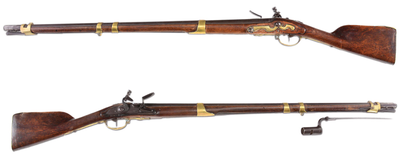 Both sides of the famous Bunker Hill Musket