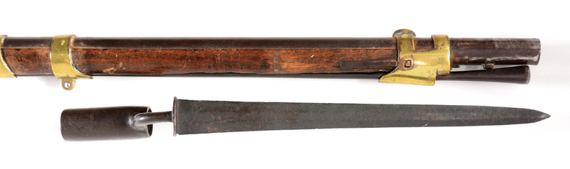 Bunker Hill Musket's muzzle and bayonet