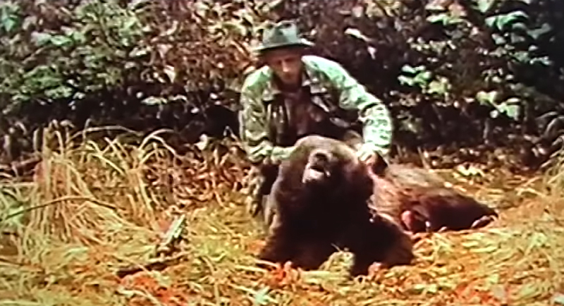 Watch Fred Bear Hunt Kodiak Bear With a Recurve Bow