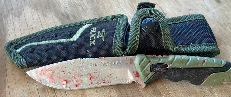 Buck 658 Pursuit Small fixed-blade hunting knife with sheath (Photo © Russ Chastain)