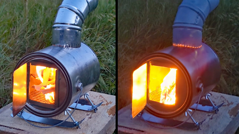 Watch: Paint Can Stove Tent Heater for Less Than $10