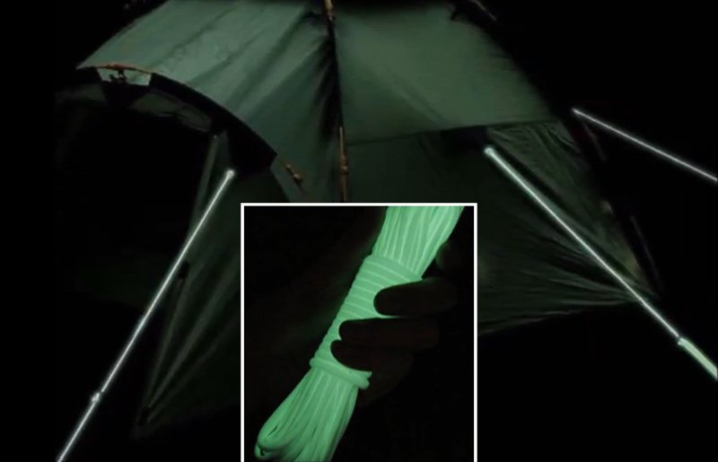 Glowing Tent Ropes to Prevent Tripping