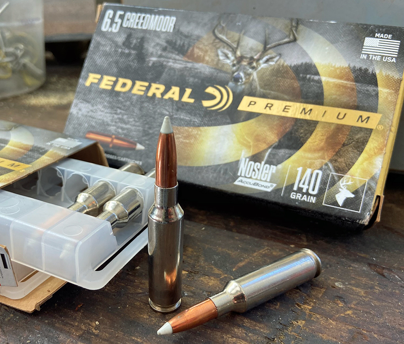 I hunted with this Federal Premium ammo loaded with 140-grain Nosler Accubond bullets. (Photo © Russ Chastain)