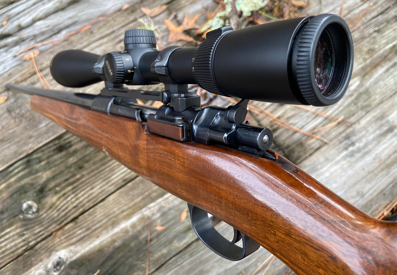 I've always liked the two-tone appearance of the bolt release on this rifle. (Photo © Russ Chastain)