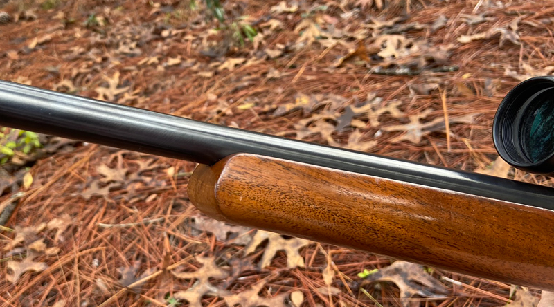 Dad usually preferred smooth curves on a stock, but this style forend tip is attractive and fairly uncommon. (Photo © Russ Chastain)