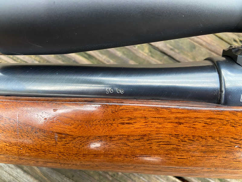 This is apparently the only identifying mark made by the rifle's builder. (Photo © Russ Chastain)