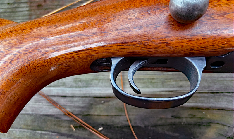 Trigger guard was polished but not contoured. (Photo © Russ Chastain)