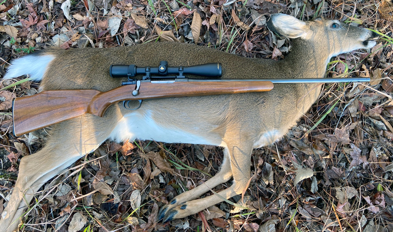SpringMaus made a fine shot and her first whitetail fell after she was already decades-old. (Photo © Russ Chastain)
