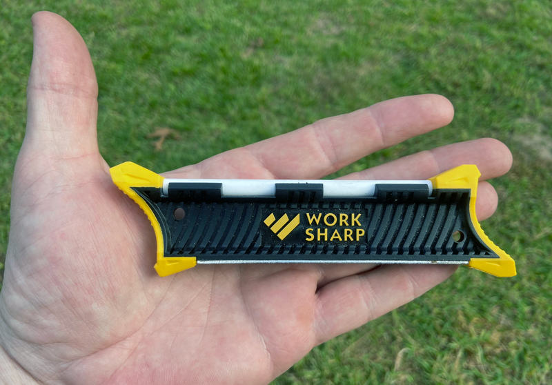 It's not the smallest pocket sharpener. (Photo  Russ Chastain)