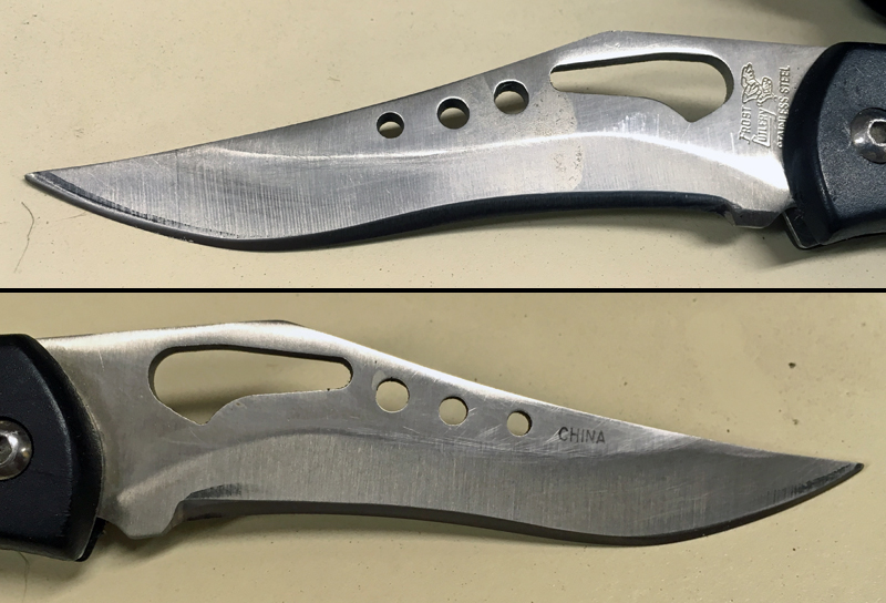 The blade is much more useful now. (The edge bevel is consistent on both sides in spite of the photo's appearance.) (Photo  Russ Chastain)