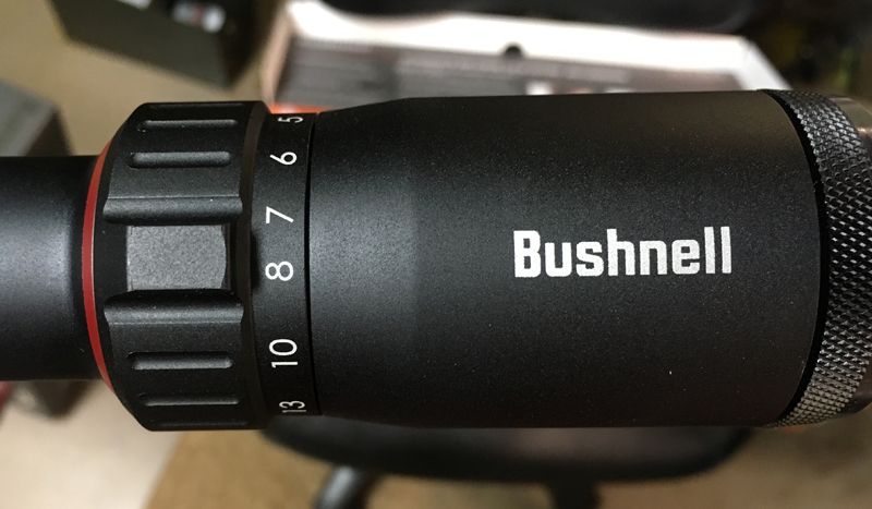 Magnification adjustment is fast and easy on the Bushnell Nitro 4x-16x (Photo © Russ Chastain)
