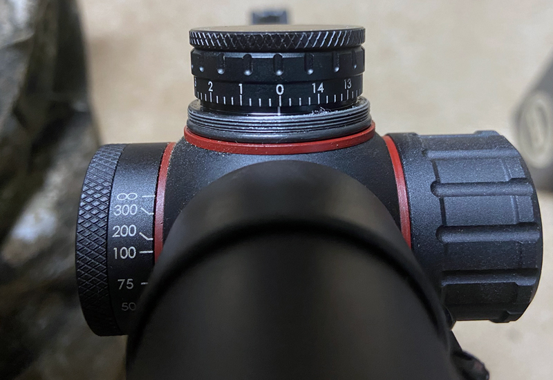 Now you can easily return the rifle to zero after adjusting up or down, left or right. (Photo © Russ Chastain)