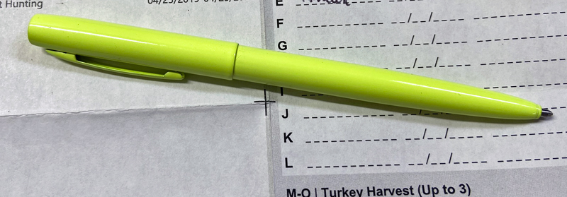 Fisher Space Pen in Tradesman Yellow