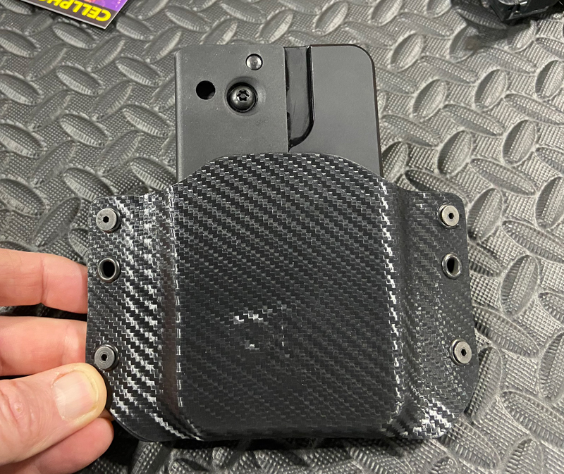 """This holster is currently available for the Ideal Conceal """"Cell Phone Pistol."""" (Photo © Russ Chastain)"""