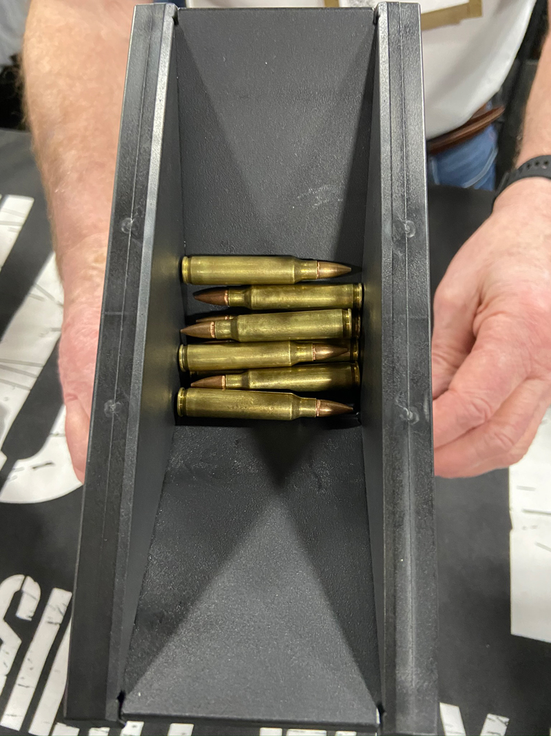 The AR and AK versions need the ammo lying parallel, but it doesn't matter which way the bullets face. (Photo © Russ Chastain)