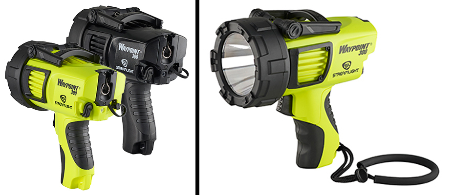 Streamlight Waypoint 300 handheld spotlight.