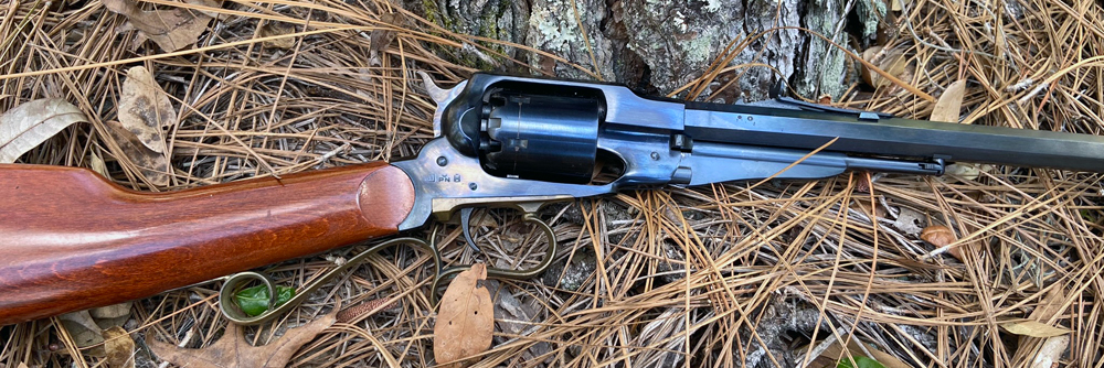 Uberti cap & ball revolver carbine. (Photo © Russ Chastain)