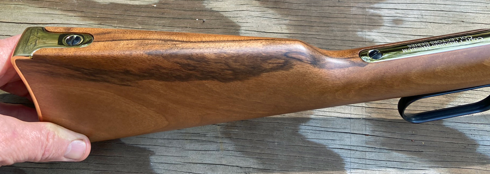 The walnut stock is attractive and tastefully finished. (Photo © Russ Chastain)