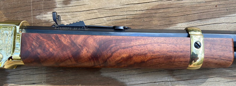 The forend on this rifle is nicely figured. (Photo © Russ Chastain)