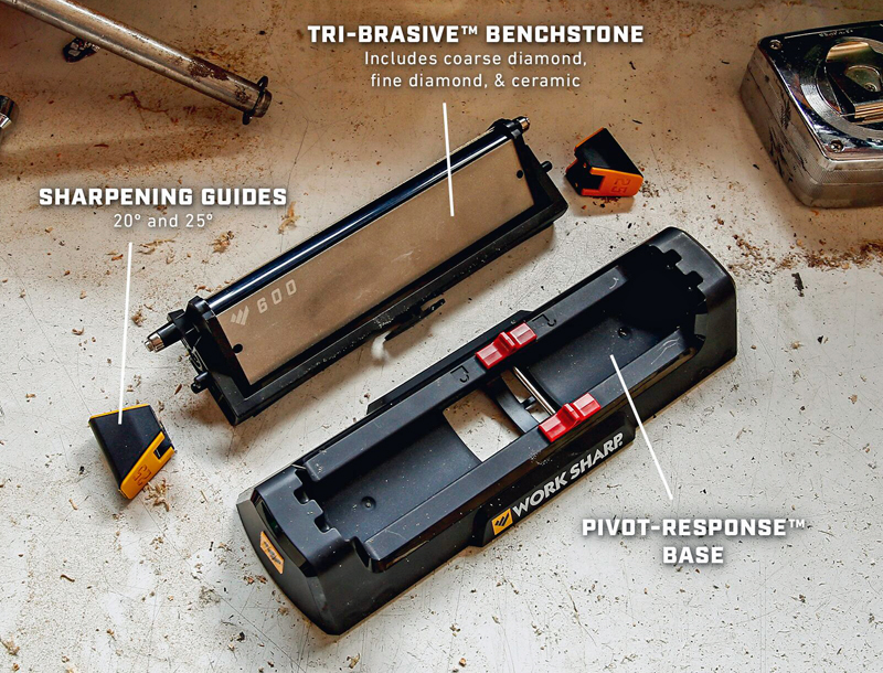 The parts & pieces of the new Benchstone.