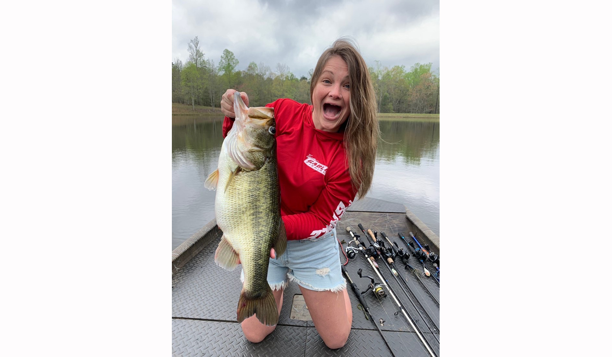 Check Out This Happy Girl With Her Huge Bass