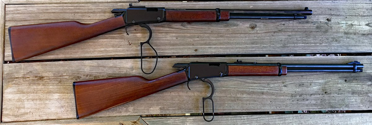 Henry Small Game Rifle (top) with a standard Henry 22 that's a few years older. (Photo © Russ Chastain)